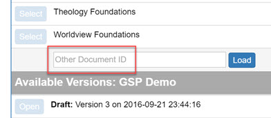 GP6 - Load Other Doc ID