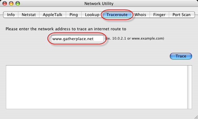 how to open network utility on mac